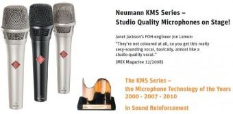 Микрофоны Neumann TLM 102 и KMS 104 plus - победители TEC awards 2010